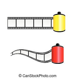film tape color vector illustration