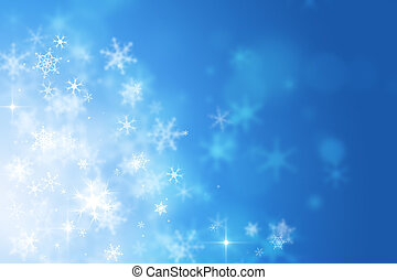 Let It Snow - blue abstract christmas celebration background...