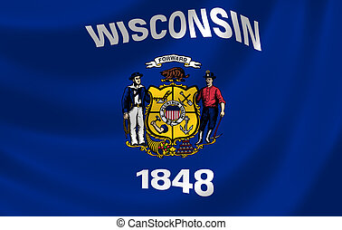 Flag of Wisconsin American State