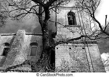 Church in black and white