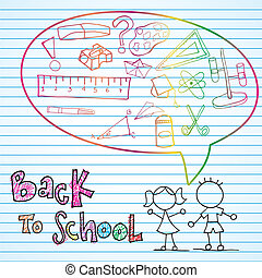Back To school Icons - Back to school draws with beatiful...