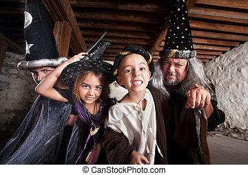 Family of Four Sorcerers - Happy family of sorcerers...