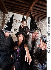 Sibling Wizards and Father - Sister and brother wizards...