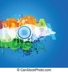 vector indian flag design