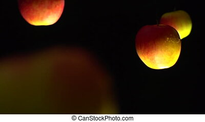 floating apples
