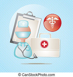 Medical icons over blue background vector illustration