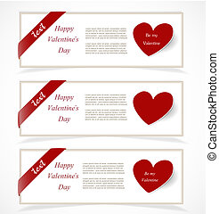 Valentine`s Day banners