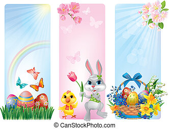 Banners for Easter. Contains transparent objects. EPS10