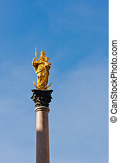 Mary's Column in Munich, Germany - Mary's Column or...