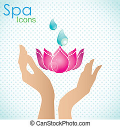 Spa Icons - spa icons over light background vector...