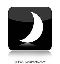 Moon icon isolated on white background
