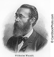 Wilhelm Wundt - Picture from Meyers Lexicon books written in...