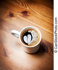 Cup of coffee with heart image