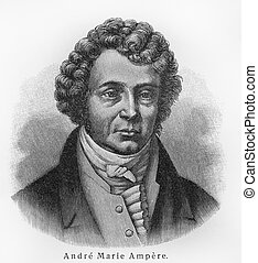 Andre-Marie Ampere - Picture from Meyers Lexicon books...