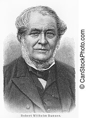 Robert Bunsen - Picture from Meyers Lexicon books written in...
