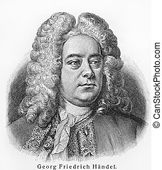 Georg Friedrich Handel - Picture from Meyers Lexicon books...