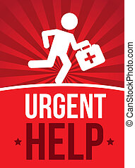 emergency doctor over red background vector illutration