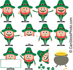 Leprechaun Set - Leprechaun in 11 different poses and his...