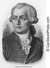 Antoine Laurent Lavoisier - Picture from Meyers Lexicon...
