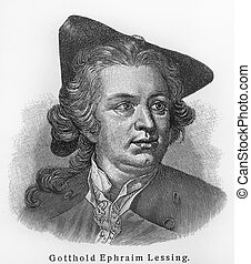 Gotthold Ephraim Lessing - Picture from Meyers Lexicon books...