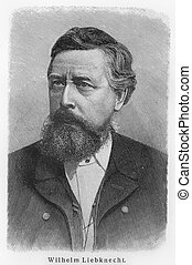 Wilhelm Ludwig Liebknecht - Picture from Meyers Lexicon...