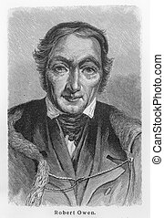 Robert Owen - Picture from Meyers Lexicon books written in...