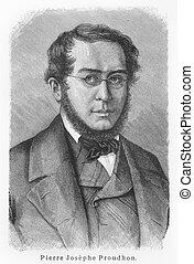 Pierre-Joseph Proudhon - Picture from Meyers Lexicon books...