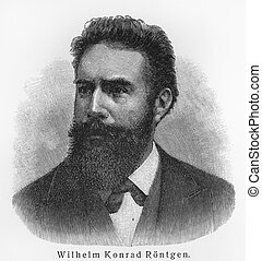 Wilhelm Conrad Rontgen - Picture from Meyers Lexicon books...