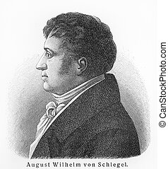August Wilhelm Schlegel - Picture from Meyers Lexicon books...