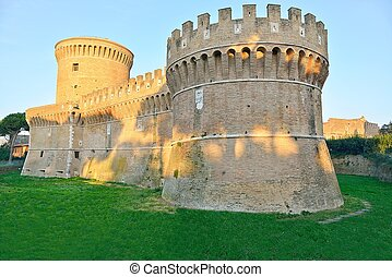 Castle of Julius II-Rome-Ostia Anti - ancient and historic...