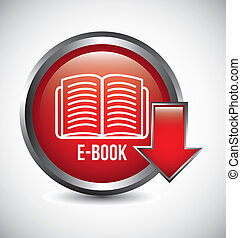 e book button over gray background. vector illustration