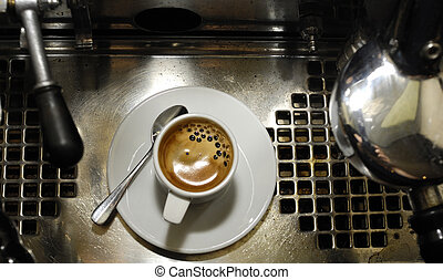 espresso\\\'s coffee break - espresso coffe and old retro...