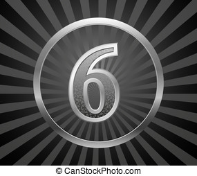 Number - Decorative element with number