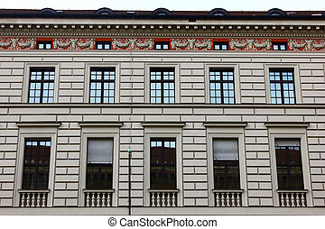 Detail of a building at Munich, Germany