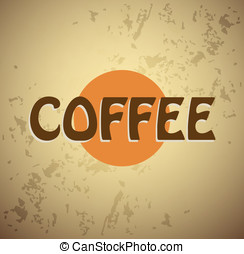 Coffee vector background