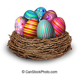 蛋, 復活節, 巢