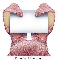 空白, 復活節, 兔子, 簽署