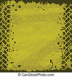 Yellow tire track background - Background with tire tracks...