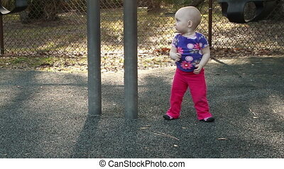 Cute Baby Girl at Park