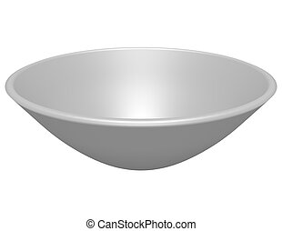 3d Render of a Bowl Isolated on White