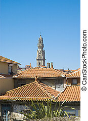 Clerigos tower at Porto, Portugal - Clerigos tower located...
