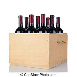 Cabernet Wine Bottles in Wood Crate - Cabernet Sauvignon...