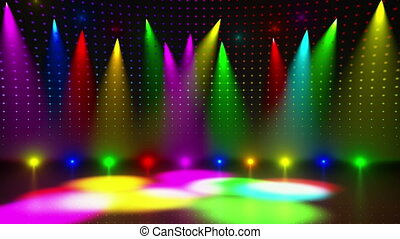 Disco Stage 1 - Disco Stage Dance Floor Colorful Vivid...