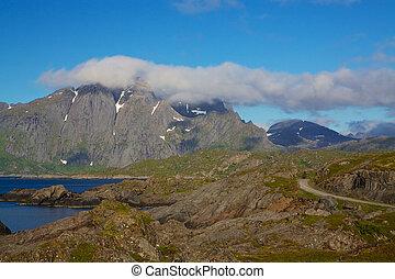Rocky coast - Rocky norwegian coastline on Lofoten Islands,...