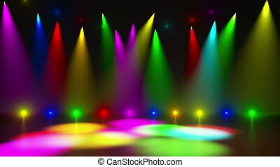 Disco Stage 2 - Disco Stage Dance Floor Colorful Vivid...