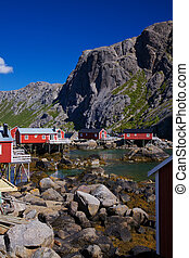 Nusfjord on Lofoten - Picturesque traditional village of...