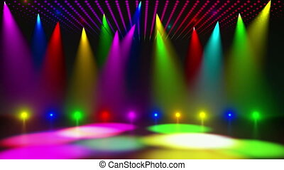 Disco Stage 3 - Disco Stage Dance Floor Colorful Vivid...