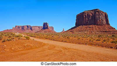 Dirt road in Monument Valley