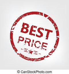 Best price stamp - Grunge best price rubber stamp, vector...