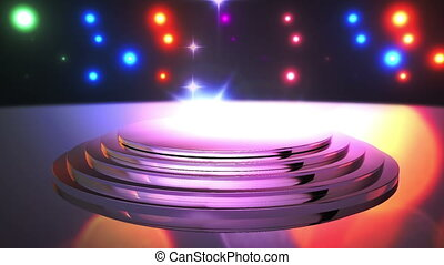 Disco Stage 12 - Disco Stage Dance Floor Colorful Vivid...
